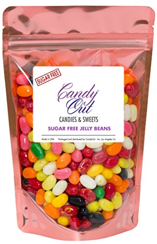 Sugar Free Assorted Jelly Beans 1/2 Pound - Sugar Free Candy in CandyOut Sealed Stand Up Bag