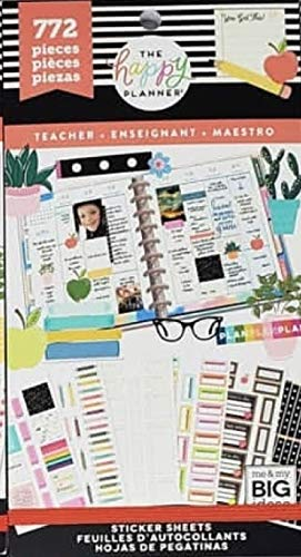 Amazon.com: The Happy Planner Value Pack Stickers Teacher 772