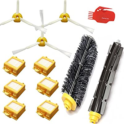 Smartide Accessory Kit for Irobot Roomba 700 760 770 780 790 Vacuum Cleaner Kit - Includes 6 Pc Filter, 3pc Side Brush, and 1 Pc Bristle Brush and Flexible Beater Brush, Cleaning Tool