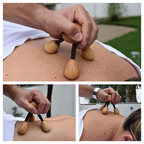 Rainforest Massage Tool for Neck, Back, and Whole Body Relief & Support |  Portable Massage Tool Made from Tagua in Ecuador | Ecofriendly Deep-Tissue