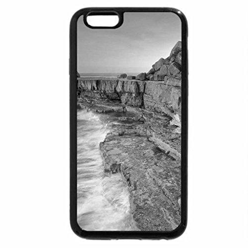iPhone 6S Case, iPhone 6 Case (Black & White) - DAMAGED COAST