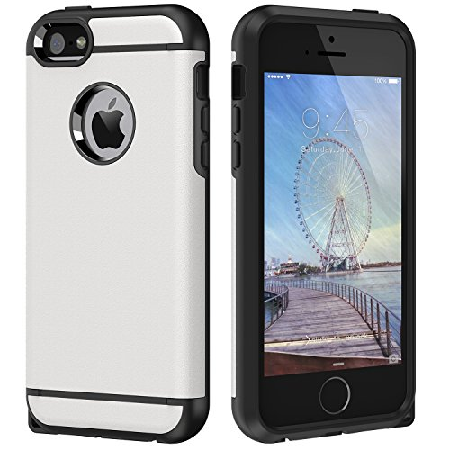 02e54504774 CHTech Dual Layer Hard PC Soft TPU Armor Case for Apple iPhone 5 / 5s /