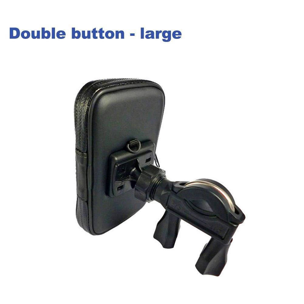 Bicicleta Tel/éfono Titular Port/átil Impermeable Ajustable Soporte Movil para Moto Bici GPS Montar para 4.7//5.5 Tel/éfono