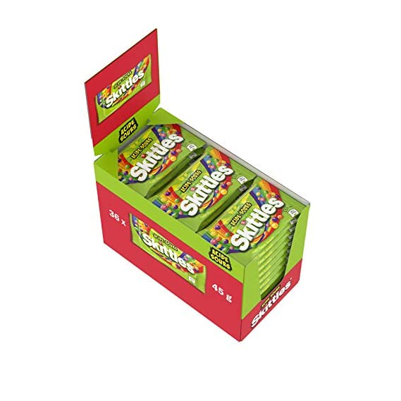Skittles Crazy Sour Flavour Candy, 45 g