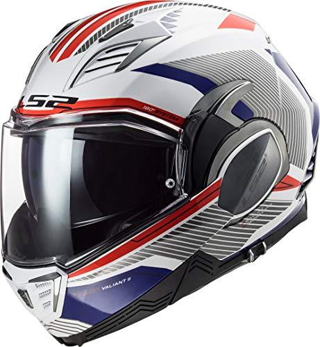 LS2 FF900 VALIANT II REVO WHITE RED BLUE, wit/blauw/rood, L
