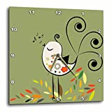 3dRose Little Singing Bird – Wall Clock, 10 by 10-Inch (dpp_29010_1) Review