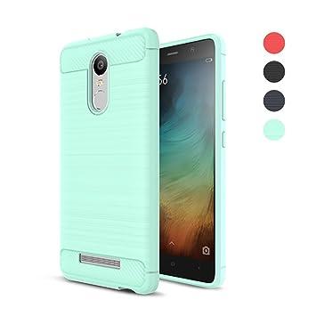 Amytech Funda Xiaomi Redmi Note 3 / Note 3 Pro, Redmi Note 3 Fundas Gel de Silicona Redmi Note 3 Pro Carcasa Fibra de Carbono Funda para Note 3 / Note ...