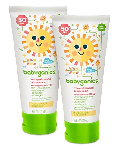 Babyganics minérale Baby Lotion écran solaire, SPF 50, Tube de 6oz (Pack de 2)