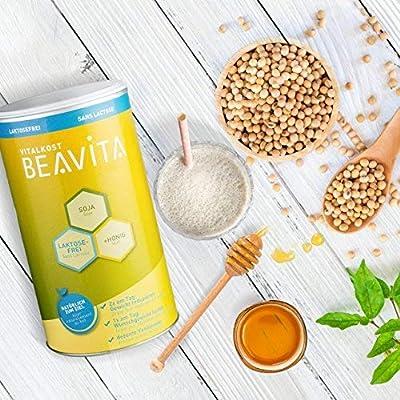 BEAVITA Vitalkost sabor vainilla sin lactosa - 500 g 9 porciones - 214 kcal por porción - Sin lácteos o gluten - Suplemento con proteína, vitaminas y minerales - Fórmula para adelgazar