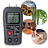 Wood Moisture Meter, Handheld Digital 4 Calibrated Wood Groups Wood Moisture Detector, 2 pins Wood for Acuurately Measuring the Percentage of Water in Walls Firewood Paper Floor Cordwood and Trees