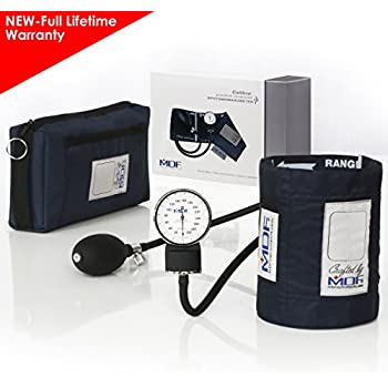 MDF® Calibra® Aneroid Premium Professional Sphygmomanometer - Blood Pressure Monitor with Adult Cuff & Carrying Case - Full Lifetime Warranty ...