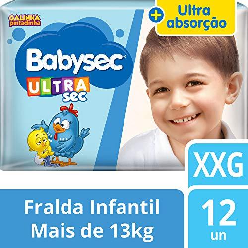 Fralda Babysec Galinha Pintadinha Ultrasec XXg 12 Unids, Babysec, XXG
