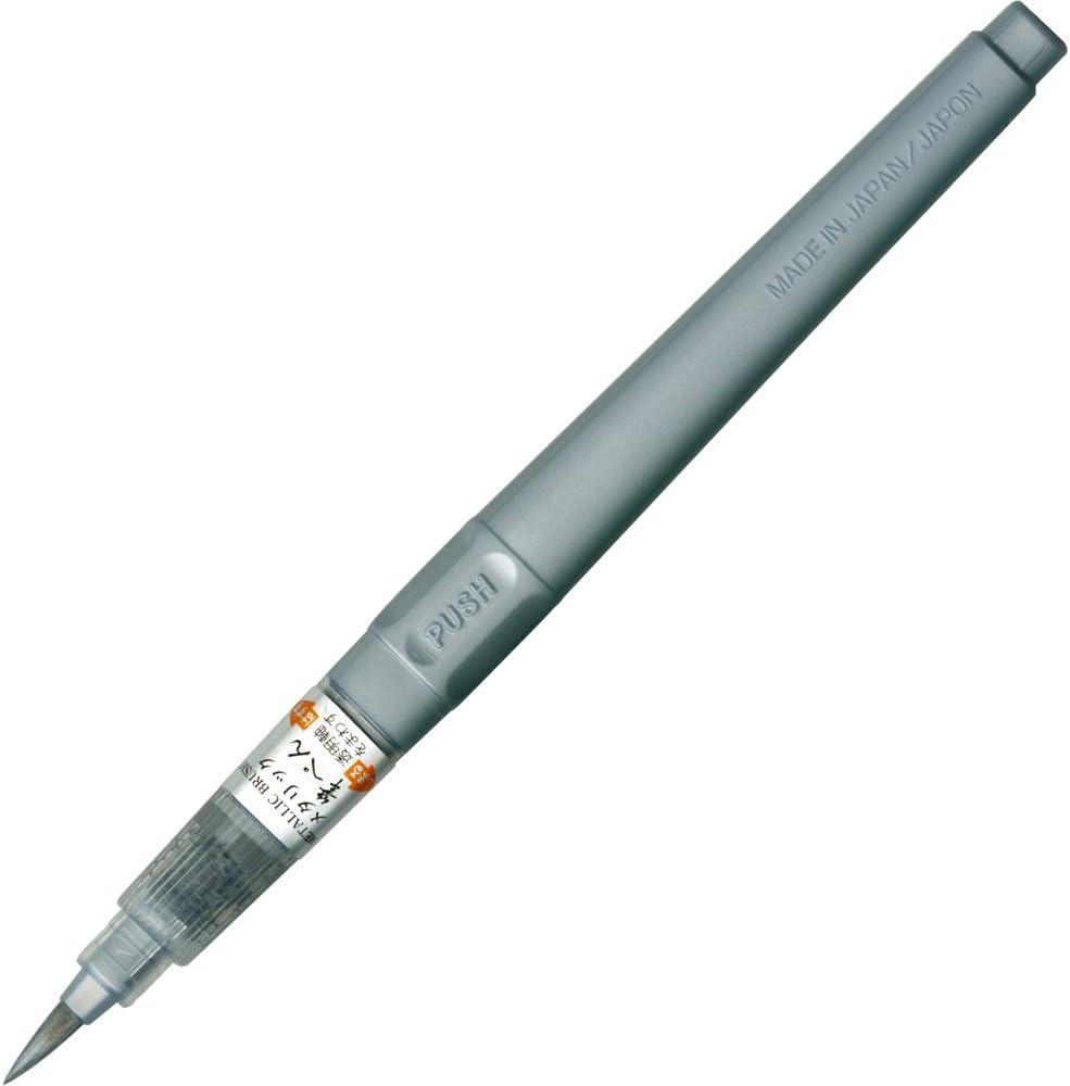 Kuretake brush pen metallic silver lease security japan import