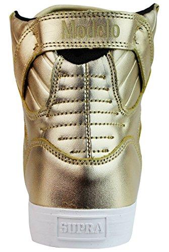 Supra Skytop Medium Sneaker Gold - Weiß
