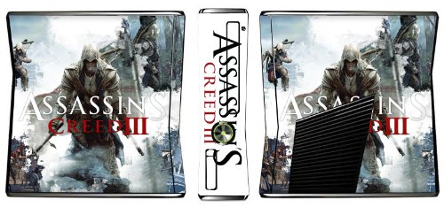Assassin's Creed III 3 Limited Edition Game Skin for Xbox 360 Slim Console