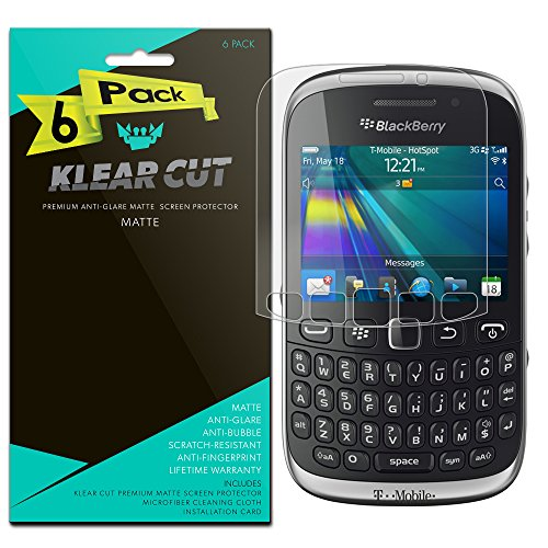 BlackBerry Curve Screen Protector [6-Pack], Klear Cut High Definition Matte Screen Protector for BlackBerry Curve (8300/8310/8320) PET Film Anti-Glare and Anti-Bubble Shield