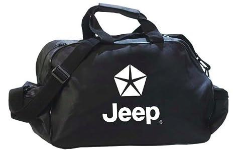 Jeep logotipo Duffle Viajes Deporte Gimnasio Bolsa Mochila  Amazon.com.mx   Deportes y Aire Libre 46bcabe301dcd