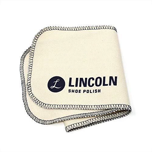 (Lincoln Shoe Polish Professional Shine & Buff Cloth | Premium Cotton Flannel Buffing