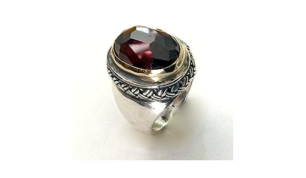 Vintage Gold-Toned Glass Stone Statement Ring Size 7 art deco bohemian statement blush golden nouveau cocktail gift alternative boho candles