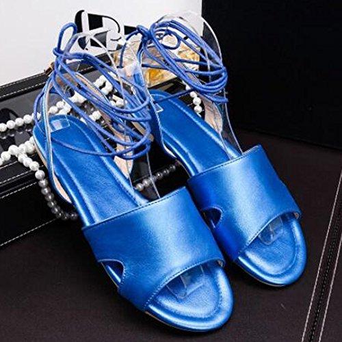 XINRD - Zapatos con tacón mujer Azul
