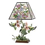 Bradford Exchange Garden of Light Louis Comfort Tiffany-Style Stained Glass Hummingbird Lamp