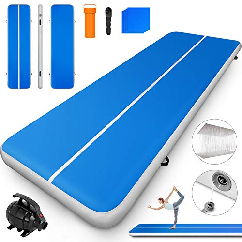 Happybuy Inflatable Gymnastics Tumbling Mat Air Tumbling Track w/Electric Pump Air Floor...
