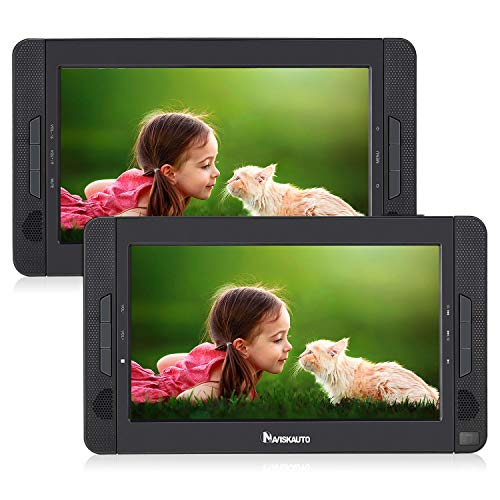 Tv Function Dual Card - NAVISKAUTO Portable DVD Player for Car with 10.1