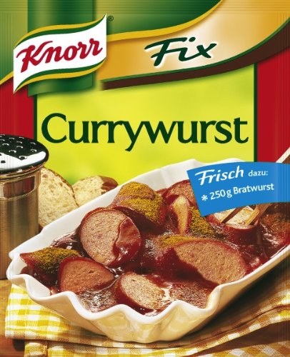 Knorr Fix curried sausage (Currywurst) (Pack of 4)