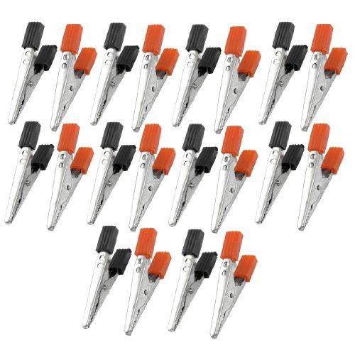 DealMux 20個絶縁ワニ口クリップテストクランプクロコダイルクランプ黒赤1.9 B06XSW27GV B06XSW27GV, ねこねこにっと:c0850d08 --- ijpba.info