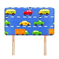 Ready Steady Bed Traffic Express Design Children's Single Headboard 3ft Bed Size Foam Upholstered