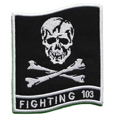 VFA-103 JOLLY ROGERS BOEING F-18 HORNET US Navy Fighter Squadron Jacket Velcro Patch(k) Us Navy Hornet Units
