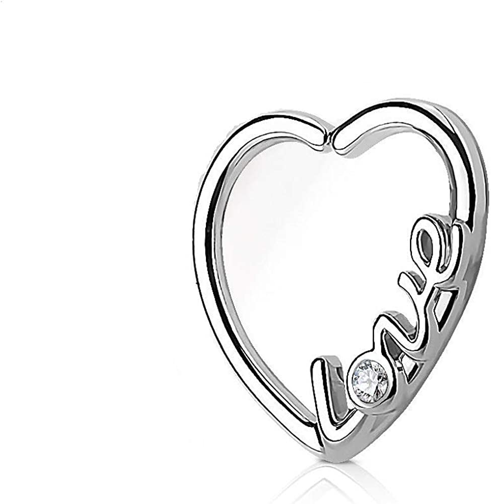 r/_mcp 16G Heart Ear Rings Piercing with Love Patterns
