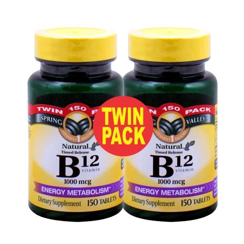 Spring Valley - Витамин B-12 1000 мкг, приуроченная-релиз, 300 таблеток, Twin Pack