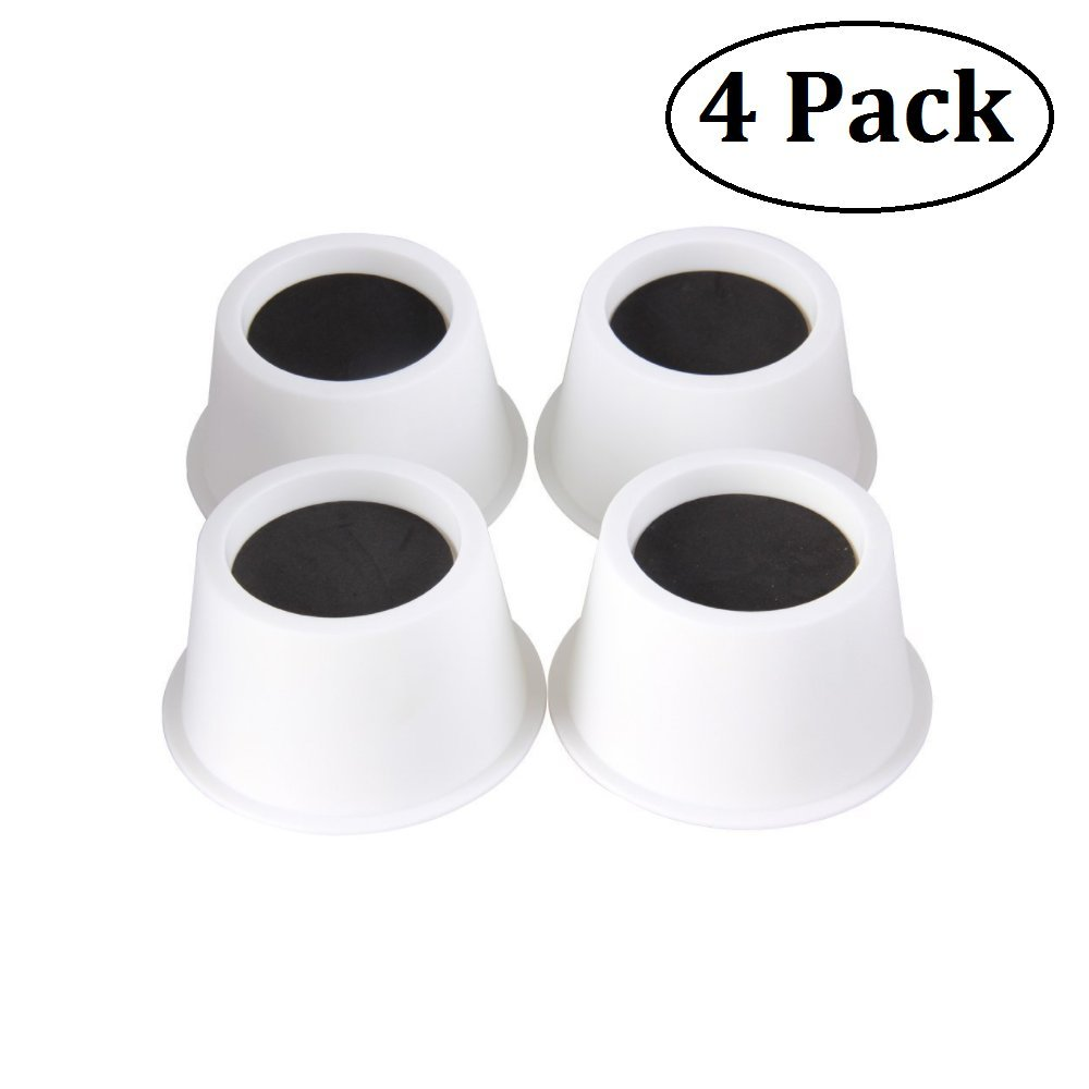 BTSD-home Round Circular Bed Risers Table Risers Furniture Risers lifts Height of 2 inch Heavy Duty Set of 4 Pieces (White)