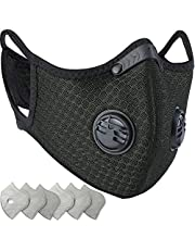BASE CAMP Dust Breathing Mask Activated Carbon Dustproof Mask with Extra Carbon N99 Filters for Pollen Allergy Woodworking Mowing Running Cycling Outdoor Activities (Green)