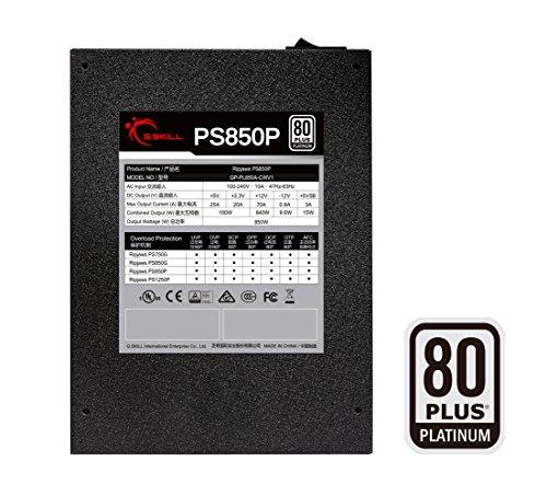 G.Skill GP-PL850A-CWV1 Ripjaws PS850P 850W 80+ Platinum Full Modular Intel/AMD Ready Gaming PC ATX 12V Power Supply