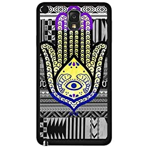Colorful Evil Eye Hand of Mary Hard Snap on Phone Case (Note 3 III)
