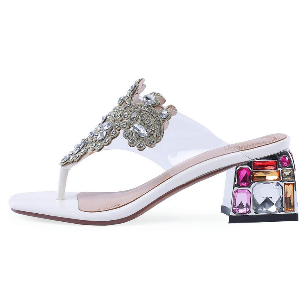 White T-JULY Sexy Flip-Flops Genuine Leather High Wedges Platform Sandal for Women Slippers Outside Ladies shoes
