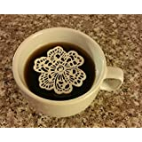Edible Lace, Cake Lace, Sugar Lace, 24 PC 6 Petal Flower Doily - Cupcake, Cake, Cake Pop, Petite Four, Coffee, or Tea - Edible Lace, Cake Lace, Sugar Lace Topper