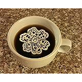 24 PC Edible Lace 6 Petal Flower Doily - Cupcake, Cake, Cake Pop, Petite Four, Coffee, or Tea
