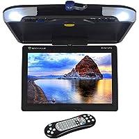 Rockville RVM13FD-BK 13 TFT Black Flip Down Car Monitor w/ USB/SD/Video Games