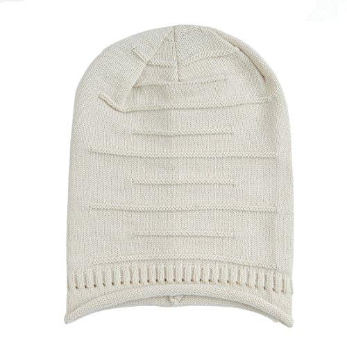 Slouchy Knit Beanie, KeepSa 2017 Brandnew Womens Beanie Moda Mujer sombreros, gorros de invierno suave caliente Gorro de punto Beige