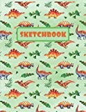 SKETCHBOOK: LARGE ANIMAL SKETCHBOOK TO DRAW IN. LARGE JOURNAL NOTEBOOK. 100 BLANK PAGES PERFECT FOR DOODLING AND SKETCHING. CREATIVE BIRTHDAY GIFT. ... ANKYLOSAURUS | STEGOSAURUS | PTERODACTYLUS.