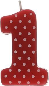 Ladybug themed molded 1st birthday candle