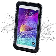 Note 4 Waterproof Case, iThrough Waterproof, Driving Swimming Shock Proof Case, Waterproof Protection up to 20ft/6M, Protective Carrying Cover Case for Samsung Galaxy Note 4 (Black)