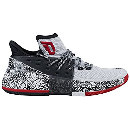Adidas Dame 3 Shoe Mens Basketball 8 WhiteCore BlackCore Red