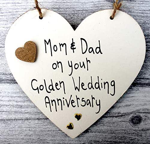 Golden Wedding Gift Ideas For Parents: Amazon.com: MADEAT94 50th GOLDEN WEDDING ANNIVERSARY GIFT