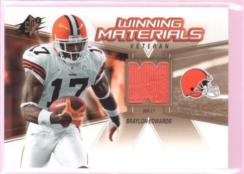 BRAYLON EDWARDS 2006 SPX GAME USED WORN JERSEY PATCH UM MICHIGAN BROWNS our rating 12