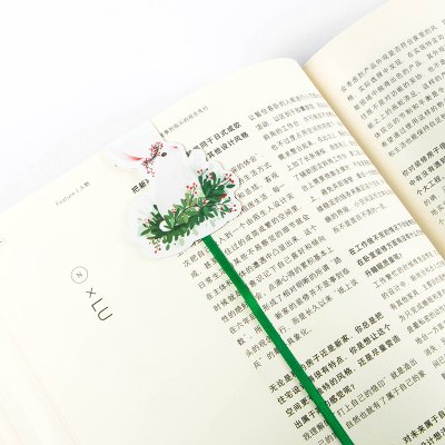 Vann92(TM) Green Grass Rabbit Ribbon Magnetic Bookmarks Books Marker of Page Stationery School Office Supply Paper Clip