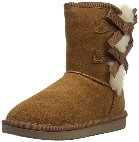 Koolaburra by UGG Girls' Victoria Short Fashion Boot, Chestnut, 12 Youth US Little -